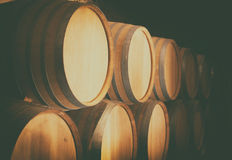 bakgrund 3d barrels model vit wine Arkivbild