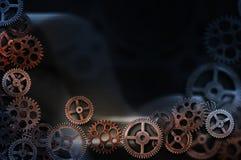 bakgrund 3d gears white Arkivbild