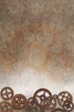bakgrund 3d gears white Royaltyfri Bild