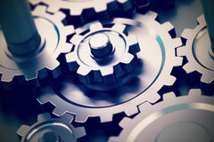 bakgrund 3d gears white Royaltyfria Bilder