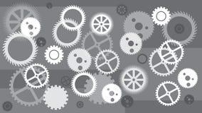 bakgrund 3d gears white Begrepp av rörelse teknologi GRÅ vit Royaltyfri Illustrationer