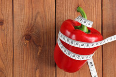 Bakgrund diet-röd peppar Royaltyfria Bilder