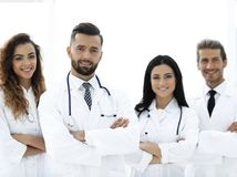 bakgrund doctors gruppen isolerad medicinsk white bakgrund isolerad white Arkivfoto