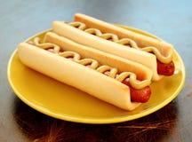 bakgrund dogs tappning för den varma etiketten för snabbmat gammal paper Royaltyfri Bild