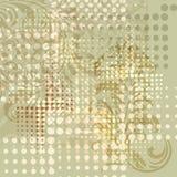 bakgrund dots blom- grunge för element royaltyfri illustrationer