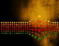 bakgrund dots grunge Royaltyfri Illustrationer