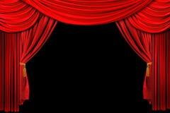 bakgrund draperad röd etapp Royaltyfri Foto