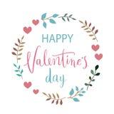 Bakgrund eller kort för bokstäver för tappning för Februari 14th valentindag Arkivbilder