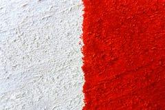 Bakgrund eller textur av röd-vit målade träbrädenärbild Royaltyfri Foto