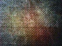 Bakgrund eller textur för platta för Grungemetalldiamant Arkivfoto