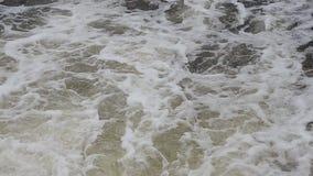 Bakgrund ett stort flöde av vatten Flodström lager videofilmer