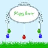 bakgrund färgade vektorn för tulpan för formatet för easter ägg eps8 den röda Royaltyfri Bild