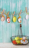bakgrund färgade vektorn för tulpan för formatet för easter ägg eps8 den röda Royaltyfria Foton
