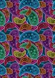 bakgrund färgrik eps paisley Royaltyfri Foto