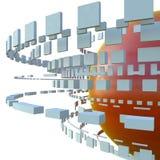 bakgrund för abstrakt begrepp 3d Stock Illustrationer