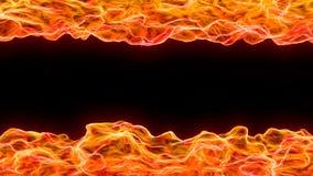 bakgrund för abstrakt begrepp 3d av flamman och värmeböljan Arkivbilder
