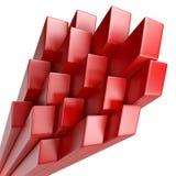 bakgrund för abstrakt begrepp 3d av kuber Arkivbild