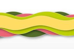 bakgrund för abstrakt begrepp 3D med papperssnittformer royaltyfri illustrationer
