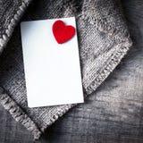 Bakgrund för abstrakt begrepp för dag för valentin` s med vitbokkortet för te Arkivfoton
