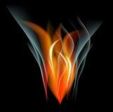 Bakgrund för abstrakt begrepp för brännskadaflammabrand Arkivbild