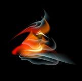 Bakgrund för abstrakt begrepp för brännskadaflammabrand Arkivbilder