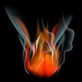 Bakgrund för abstrakt begrepp för brännskadaflammabrand Royaltyfria Bilder
