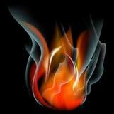 Bakgrund för abstrakt begrepp för brännskadaflammabrand Arkivfoto