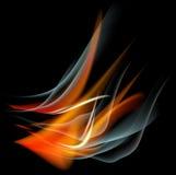 Bakgrund för abstrakt begrepp för brännskadaflammabrand Royaltyfri Foto