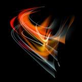 Bakgrund för abstrakt begrepp för brännskadaflammabrand Arkivfoton