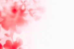 Bakgrund för abstrakt begrepp för dag för valentin` s av mjuka röda vita bokehsuddighetshjärtor Royaltyfri Fotografi