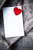 Bakgrund för abstrakt begrepp för dag för valentin` s med vitbokkortet för te Royaltyfri Fotografi
