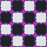 Bakgrund för abstrakt begrepp för fyrkant för sömlöst kontrollörschack svartvit Royaltyfri Illustrationer