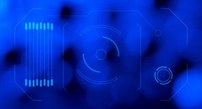 Bakgrund för abstrakt begrepp för HUD hologramblått Royaltyfria Foton