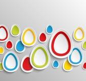 Bakgrund för abstrakt begrepp för påskägg färgrik. Fotografering för Bildbyråer