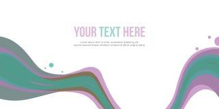 Bakgrund för abstrakt begrepp för stil för titelradwebsitevåg Arkivfoto