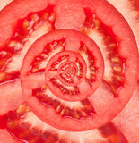 Bakgrund för abstrakt begrepp för tomatoändlighetsspiral. Fotografering för Bildbyråer
