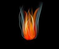 Bakgrund för abstrakt begrepp för vektor för brännskadaflammabrand Royaltyfri Foto