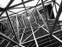Bakgrund för abstrakt begrepp för konstruktion för arkitektur för stålstruktur fotografering för bildbyråer