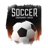 Bakgrund för abstrakt begrepp för match för fotbollfotbollturnering stock illustrationer