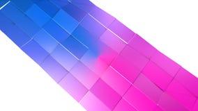 bakgrund för abstrakt begrepp för tolkningen 3d färgar geometrisk med modern lutning i låg poly stil yttersida 3d med blått rött Royaltyfri Illustrationer