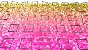 bakgrund för abstrakt begrepp för tolkningen 3d färgar geometrisk med modern lutning i låg poly stil yttersida 3d med den röda ap Royaltyfri Bild