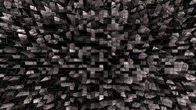 bakgrund för abstrakt begrepp för tolkningen 3d färgar geometrisk med modern lutning i låg poly stil yttersida 3d med svart färg royaltyfri illustrationer