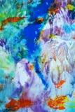 Bakgrund för abstrakt begrepp för vattenfärgmålarfärgpastell, färgrik textur arkivfoton