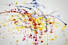Bakgrund för abstrakt begreppfärgstänkvattenfärg Royaltyfri Bild