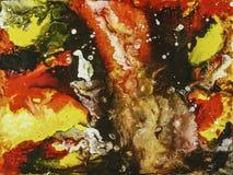 Bakgrund för abstrakt konst, texturmålning Royaltyfri Fotografi