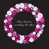 Bakgrund för abstrakt skönhetjul och för nytt år Royaltyfri Bild