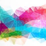 Bakgrund för abstrakt triangel för affär företags Royaltyfria Foton