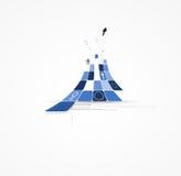 Bakgrund för affär för begrepp för oändlighetsdatorny teknik stock illustrationer