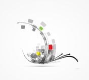 Bakgrund för affär för datateknikchipbegrepp Arkivfoton