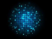 Bakgrund för affisch för boll för abstrakt technodisko magisk Arkivfoton